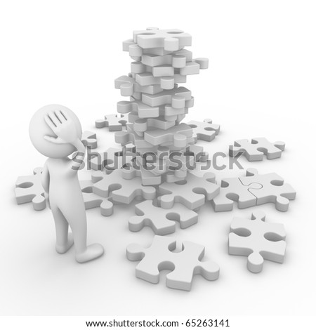 Man in trouble - stock photo