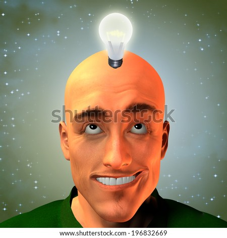 Man invent with stars - stock photo