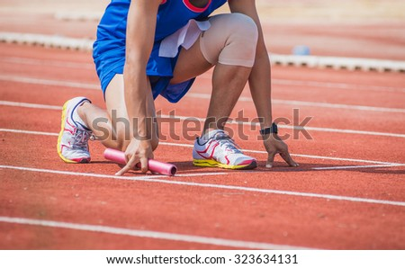 man is ready to run track .