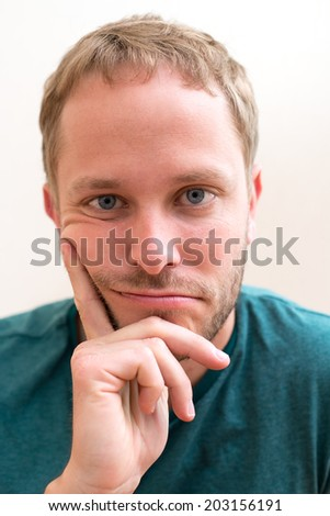 man is reflect - stock photo