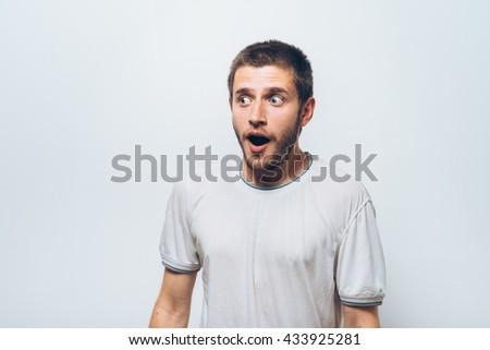 Man is surprised - stock photo