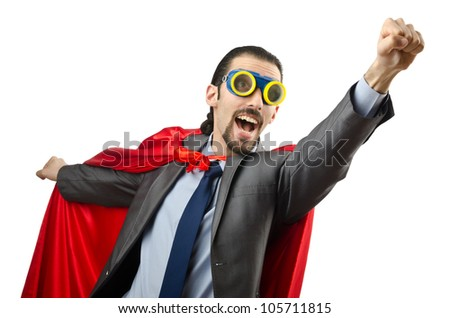 man isolated on the white background - stock photo