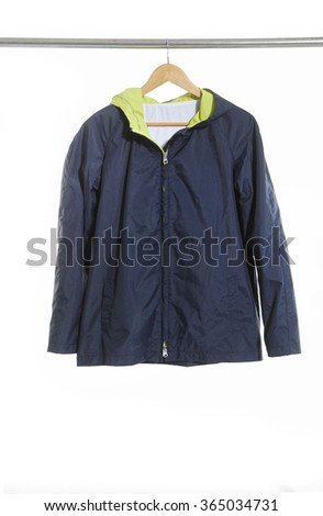 Man jacket on hanger. - stock photo