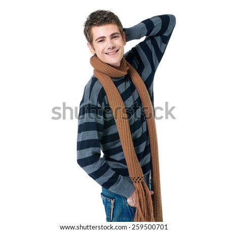 Man jumping in excitement - stock photo
