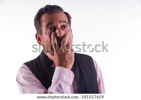 man looking astounish - stock photo