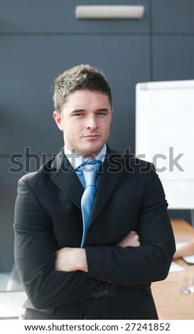 man looking at camera - stock photo