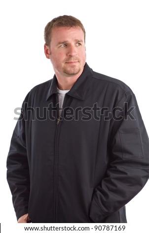 Man Looking Away - stock photo