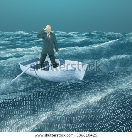 Man lost in binary sea