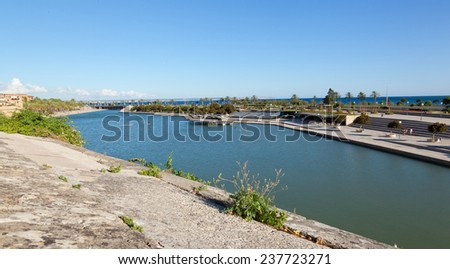 Man made lake at Palma de Mallorca, Spain - stock photo