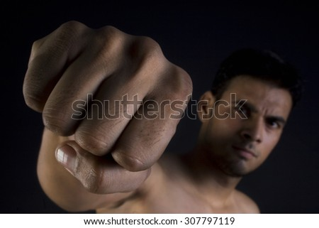Man making a fist