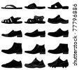 Man Male Men Shoes Footwear - stock vector