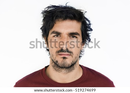 Man Male Person Portrait Casual Studio Concept