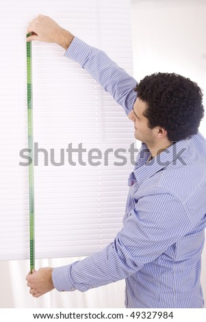 man measure - stock photo