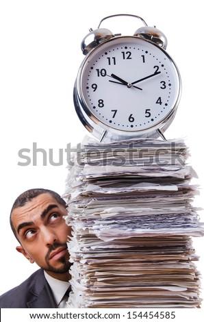 Man not meeting his deadlines - stock photo