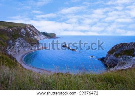 Man 'O' War Bay Lulworth Cove Dorset - stock photo
