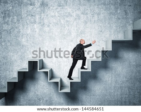 man on 3d abstract stair
