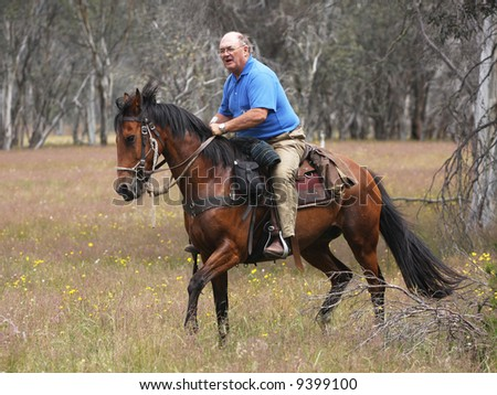 man on horseback - stock photo