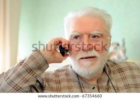 man on phone - stock photo