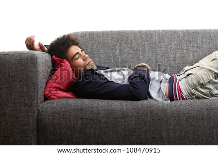 man on the couch