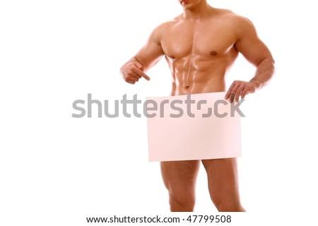 Man paper - stock photo
