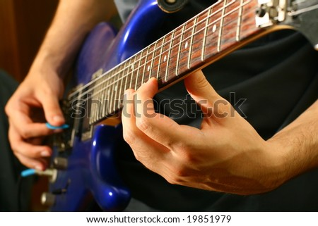 man play solo - stock photo