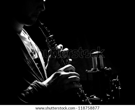 man playing a wind instrument