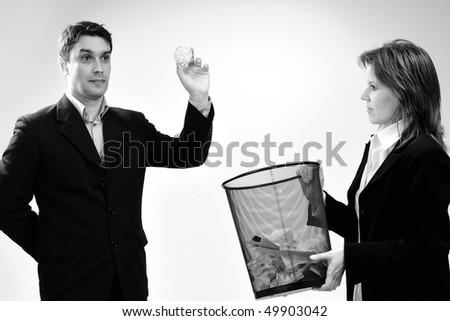 man playing in office - stock photo
