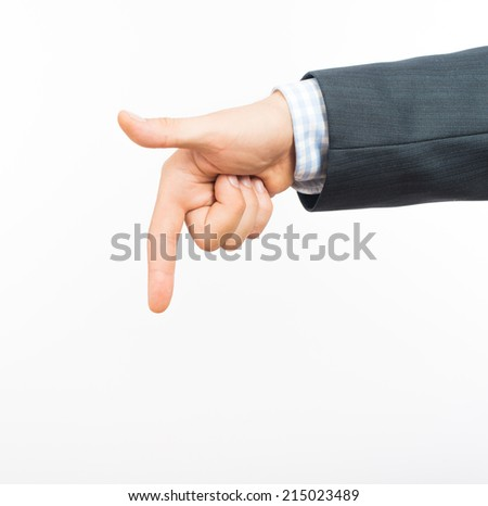 man points his index finger at you