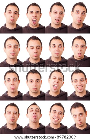 Man Portrait, Collection of Expressions