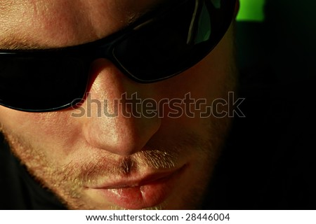 Man portrait with eyeglasses - stock photo