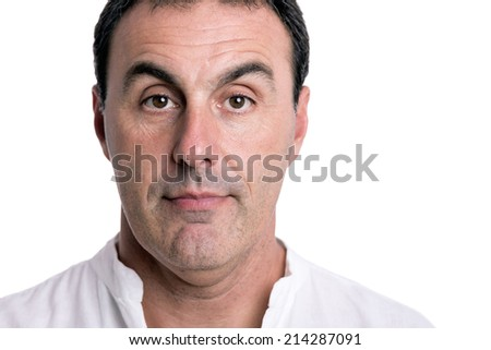 man portrait with white background