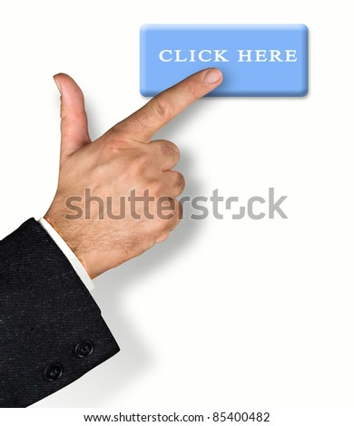 Man pressing click up button