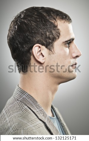 Man Profile - stock photo