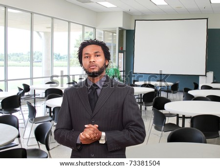 Man ready for the presentation - stock photo