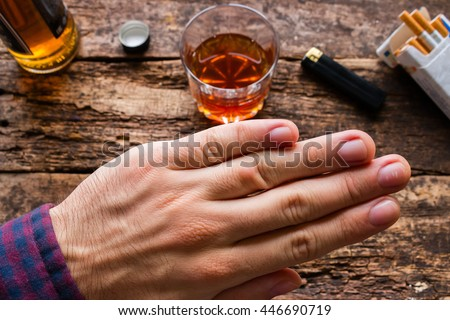 man refuses to alcohol and cigarettes