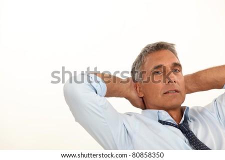 Man relaxing - stock photo