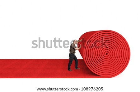 Roll out the red carpet stock images royalty free images for Carpet roll logo