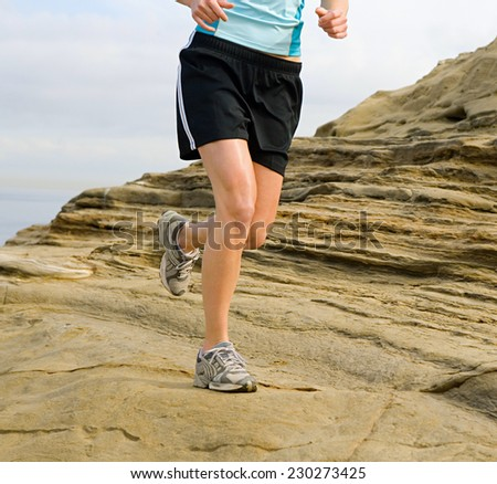 Man running - stock photo