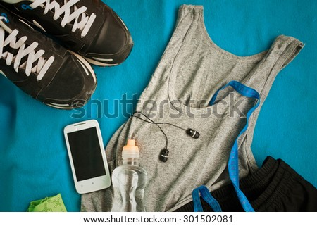 man's accessories for sports - stock photo