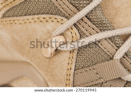 man's boot Isolated on a white background - stock photo
