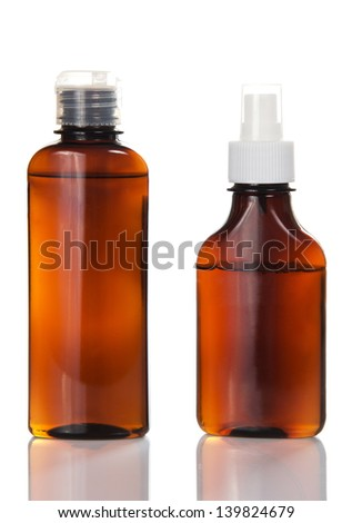 Man's cosmetics for the hair, isolated on white - stock photo
