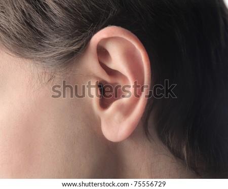 Man's ear - stock photo