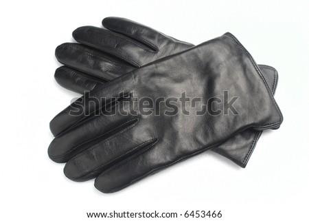 man's gloves - stock photo