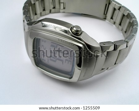 Man's hours with a bracelet - stock photo