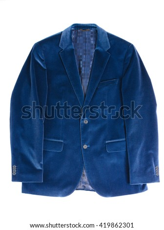 Man's jacket blue - stock photo