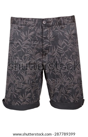 man's jeans shorts with floral pattern