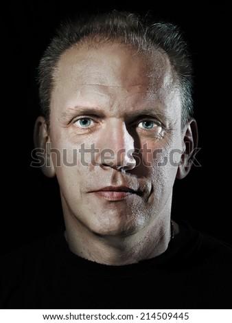 man's portrait - stock photo