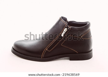man's shoes isolated on white background. Leather shoes isolated on white background -including clipping path
