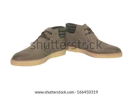 Man's shoes  on white background