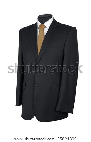 Man's suit isolated on a white background - stock photo